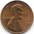 United States Unc 1974-P Lincoln Memorial Cent~Free Shipping