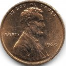 United States Unc 1969-P Lincoln Memorial Cent~Free Shipping