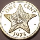 Rare Proof Bahamas 1973 Cent~Starfish~Only 35,000 Minted~Excellent~Free Shipping