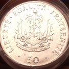 Unc Roll (20) Large Haiti 1991 50 Centimes~Charlemagne Peralte~Double Cannons~FS