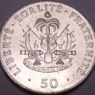 Large Unc Haiti 1991 50 Centimes~Charlemagne Peralte~Double Cannons~Free Ship