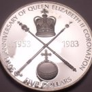 Rare Silver Proof Solomon Islands 1983 $5.00~Queens Coronation~2,944 Minted~Fr/S