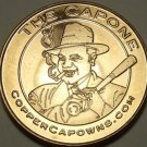 Unc .999 Pure Copper 1 Ounce Round~Al Cappone With a Cigar And a Bat~Free Ship