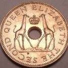 Unc Rhodesia 1958 Half Penny~Giraffes With Crown~Free Shipping