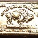 Gem Unc .999 Pure Brass 1 Gram Buffalo Bar~Free Shipping