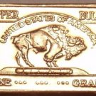 Gem Unc .999 Pure Copper 1 Gram Buffalo Bar~Totonka~Free Shipping