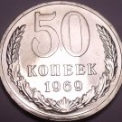 Proof Russia 1969 50 Kopeks~Free Shipping