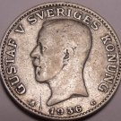 Silver Sweden 1936-G Krona~See All Our Silver Coins~Free Shipping*
