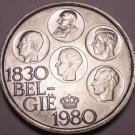 Gem Unc Silver Belgium 1980 500 Francs~150th Anniversary Of Independence~Fr/Ship