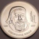 Rare Gem Unc Silver Mongolia 2002 1,000 Tugrik~Chinggis Khan~17,000 Minted~Fr/Sh