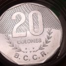 Gem Unc Roll (20) Huge Costa Rica 1983-V 20 Colones Coins~Excellent~Free Ship