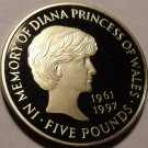 Cameo Proof Great Britain 1999 5 Pounds~In Memory Of Princess Diana~Free Ship