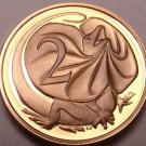 Cameo Proof Australia 1986 2 Cents~Frill Necked Lizard~67,000 Minted~Free Ship