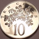 Rare Proof Jamaica 1969 10 Cents~1st Year~Butterfly On Leaf~30,000 Minted~FR/Shi
