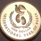 Cameo Proof Australia 1986 Dollar~67,000 Minted~International Year Of Peace~Fr/S