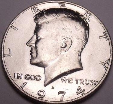 United States Unc 1974-D Kennedy Half Dollar~Free Shipping