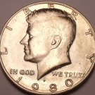 United States Unc 1980-P Kennedy Half Dollar~Free Shipping