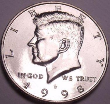 United States Unc 1998-D Kennedy Half Dollar~Free Shipping