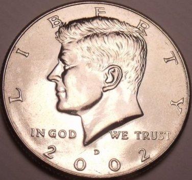 United States Unc 2002-D Kennedy Half Dollar~Free Shipping