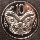 Rare Cameo Proof New Zealand 1992 10 Cents~9,000 Minted~Maori Mask~Free Ship