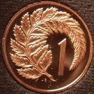 Rare Cameo Proof New Zealand 1983 Cent~Silver Fern Leaf~18,000 Minted~Free Ship