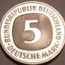 Gem Cameo Proof Germany 1975-J 5 Marks~Eagle With Feathers Spread~43k Minted~F/S