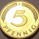 Gem Cameo Proof Germany 1975-F 5 Pfennig~Minted In Stuttgart~43k Minted~Free Shi