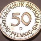 Gem Cameo Proof Germany 1975-D 50 Pfennig~Women Planting An Oak Seedling~Free Sh