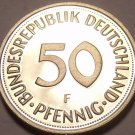 Gem Cameo Proof Germany 1975-F 50 Pfennig~Women Planting An Oak Seedling~Free Sh
