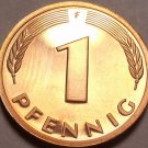 Cameo Proof Germany 1975-F Pfennig~Minted In Stuttgart~43,000 Minted~Free Shi