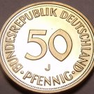 Gem Cameo Proof Germany 1975-J 50 Pfennig~Women Planting An Oak Seedling~Free Sh
