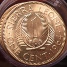 Gem Unc Roll (20 Coins) Sierra Leone 1964 Cents~Sir Milton Margai~1st Year~Fr/Sh