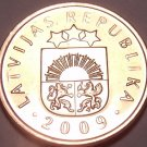 Gem Brilliant Unc Latvia 2009 2 Santimi~Pre Euro Coin~Free Shipping