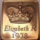 Great Britain 1978 Proof Set Medallion~Great For Birthdays & Anniversarys~Fr/Shi