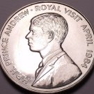 Gem Unc Saint Helena 1984 50 Pence~Royal Visit OF Prince Andrew~Free Shipping