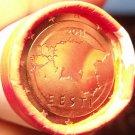 Gem Unc Original Roll (50 Coins) Estonia 2011 5 Euro Cents~Map Of Estonia~Fr/Shi