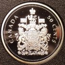 Rare Cameo Silver Proof Canada 2002 50 Cents~21,573 Minted~50th Anniv~Free Ship
