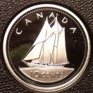 Rare Cameo Silver Proof Canada 2002 10 Cents~21,573 Minted~50th Anniv~Free Ship