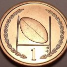 Gem Unc Isle Of Man 1996-AA Penny~Rugby~Football And Goal Post~Free Shipping