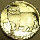 Gem Unc Isle Of Man 1989 Crown~Persian Cat~Coin Of The Year~Fantastic~Free Ship