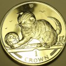 Gem Unc Isle Of Man 2000 Crown~Scottish Kitten~We Have Gem Unc Coins~Free Ship