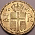 Large Iceland 1940 2 Kronur~546,000 Minted~Free Shipping