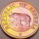 Rare Proof Liberia 1974 Cent~Elephant Coin~9,362 Minted~Fantastic~Free Shipping