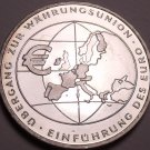 Gem Unc Silver Germany 2002-F 10 Euro~Introduction Of Euro Currency~Free Ship
