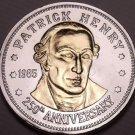 Historic Mint Double Eagle Patrick Henry Commemorative Medallion~Free Shipping