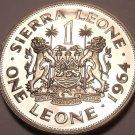 Massive Rare Proof Sierra Leone 1964 Leone~10,000 Minted~1st Year Ever~Free Ship