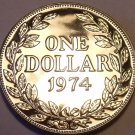 Rare Proof Liberia 1974 Dollar~Only 9,362 Minted~Proofs Are Best Coins~Fr/Ship