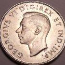 Gem Unc Silver Canada 1943 50 Cents~Mint Error Die Crack~Fantastic~Free Shipping