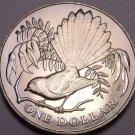 Rare Gem Unc New Zealand 1980 Dollar~115,000 Minted~Fantail Bird~Excellent~Fr/Sh