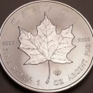 Gem Unc .999 Silver Canada 2014 $5.00 Maple Leaf~Excellent~Free Shipping